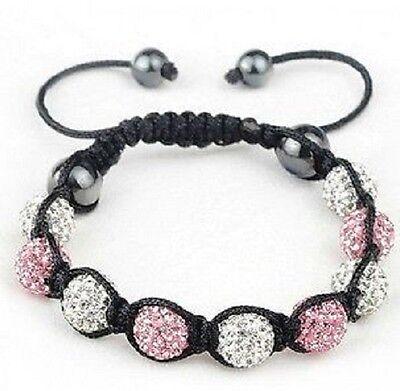 Shamballa Bracelet Crystal Pave Disco Balls Christmas Gift