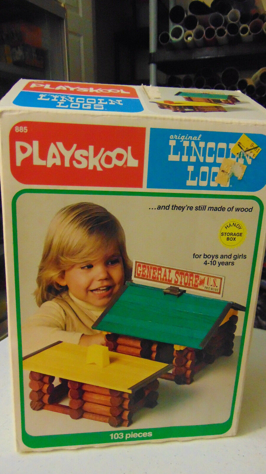 VINTAGE 1978 Playskool LINCOLN LOGS General Store Home Playset