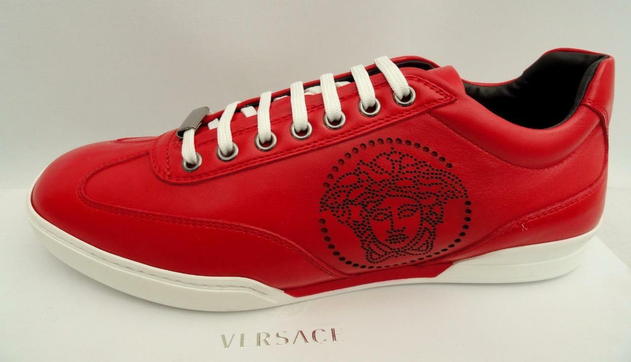 Versace medusa Leather Trainers Sneakers Boots UK8 EU42 US9 New
