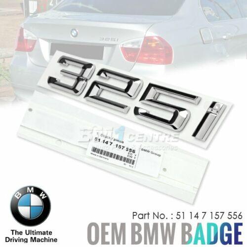 GENUINE OEM BMW 325i REAR EMBLEM FOR 3 SERIES E90 E91 E92 E93 F30 F31 GERMANY