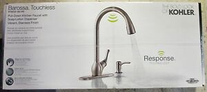 Kohler Barossa Touchless Pull Down Kitchen Faucet With Soap/lotion Dispenser