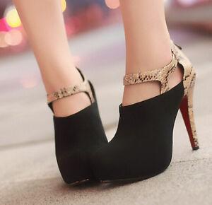 Bottes Chaussures Cm Noir Talons 9144 Cuir 11 Femme Python Hauts Bottines Simili rr8x1na