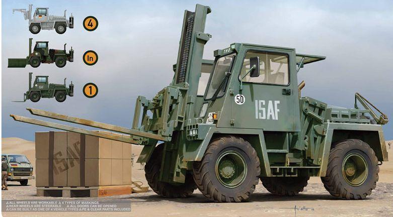 Takom 1 35 Scale German Feld-Umschlag-Gerät FUG 2.5T Forklift Military Kit