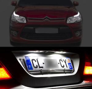 4-ampoules-a-LED-veilleuses-feux-de-plaque-eclairage-blanc-pour-Citroen-C4