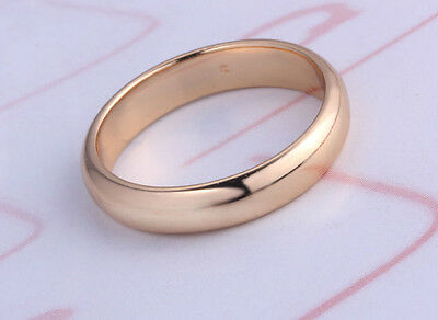 Engagement / Wedding Ring Slim 18k Yellow Gold Plated Mens Or Womens Ring Gold Kunden Zuerst