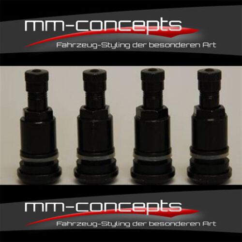 4 llantas válvulas para llantas de aluminio válvula llantas válvulas neumáticos llantas válvula negro