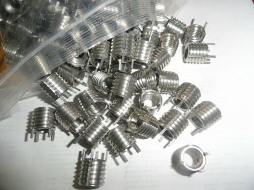 """3//8-16 X 1//2/"""" Long Stainless Threaded Key Locking Inserts MS51831-104"""