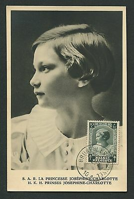 Diverse Philatelie Belgien Belgien Mk 1937 Princess Tuberkolose Maximumkarte Carte Maximum Card Mc Cm C9419