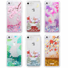 Dynamic Liquid Glitter Quicksand Clear Hard Back Phone Case For iPhone 8 7 Plus