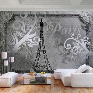 Details zu VLIES FOTOTAPETE Paris retro vintage Stadt grau TAPETE  WANDBILDER XXL Wohnzimmer