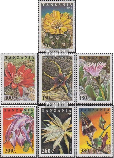 Tanzania 2160-2166 (complete.issue.) unmounted mint / never hinged 1995 Cacti