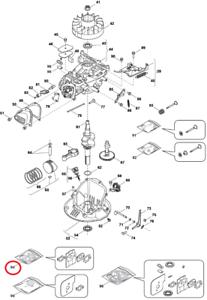 Mountfield HP414 RS100 Engine Carburettor Gasket Kit 118550699//0 Genuine Part