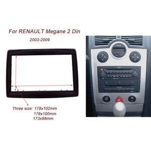 2-DIN-Radio-DVD-Stereo-CD-Panel-Dash-Mounting-fascia-for-RENAULT-Megane-II-03-09