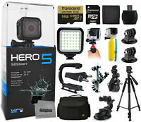 Gopro Hero5 Session Edition + 64gb Essential 15 Piece Accessories Package