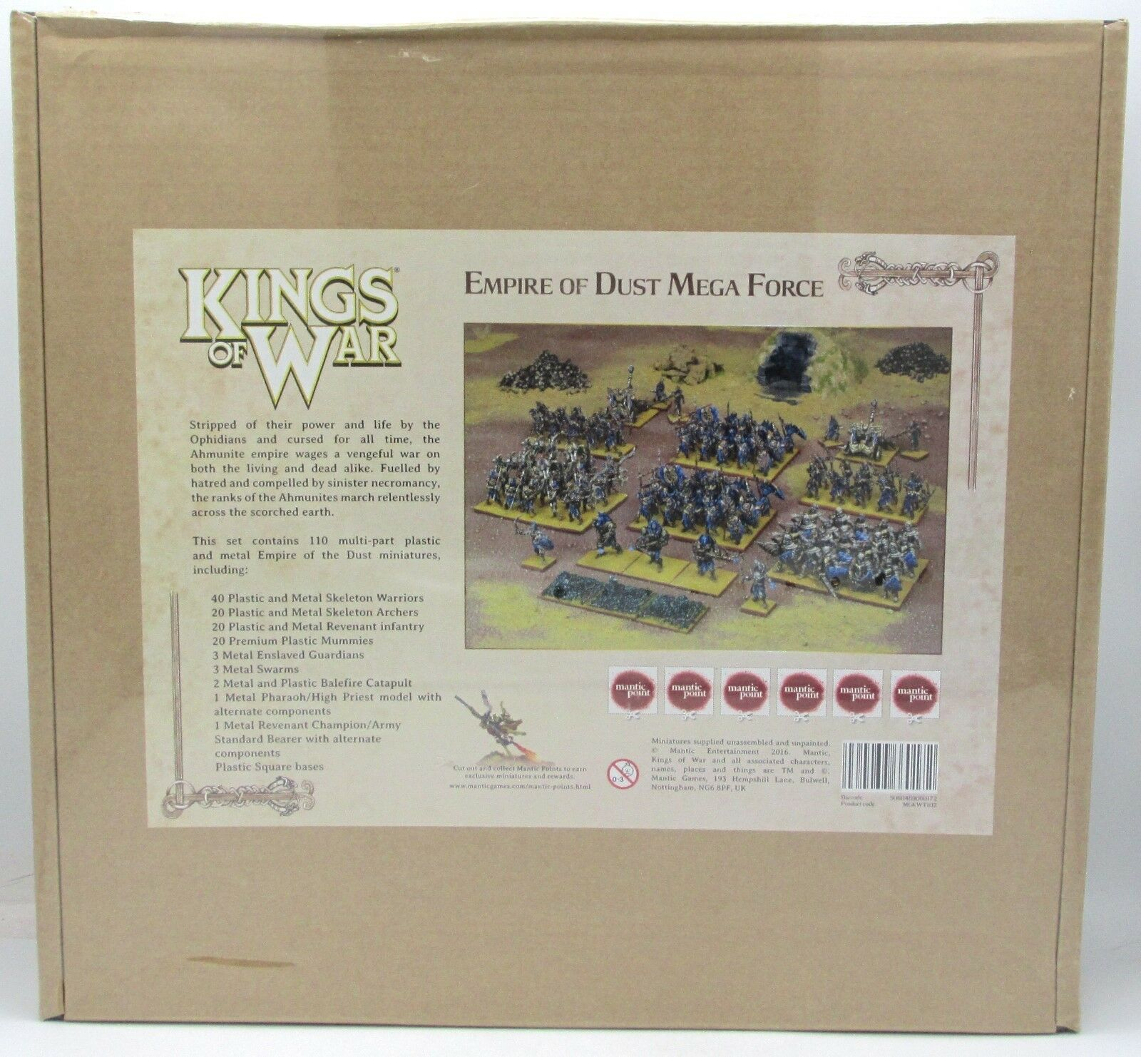 Kings of War MGKWT102 Empire of of of Dust Mega Force (Army Box) Desert Undead Warrior a2ec60