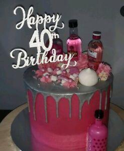 Cool Happy Birthday Cake Topper 21St 40Th 50Th 60Th 70Th 80Th 18Th Funny Birthday Cards Online Amentibdeldamsfinfo