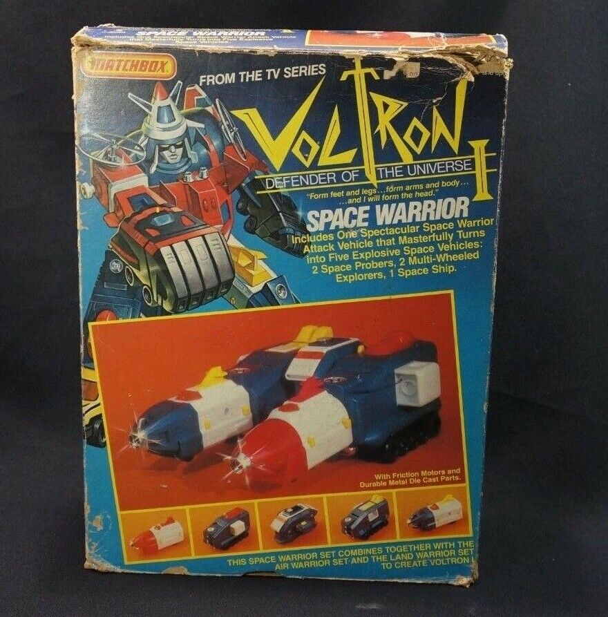 Voltron I Defender Of The Universe Space Warrior Complete w  Box Matchbox 1984