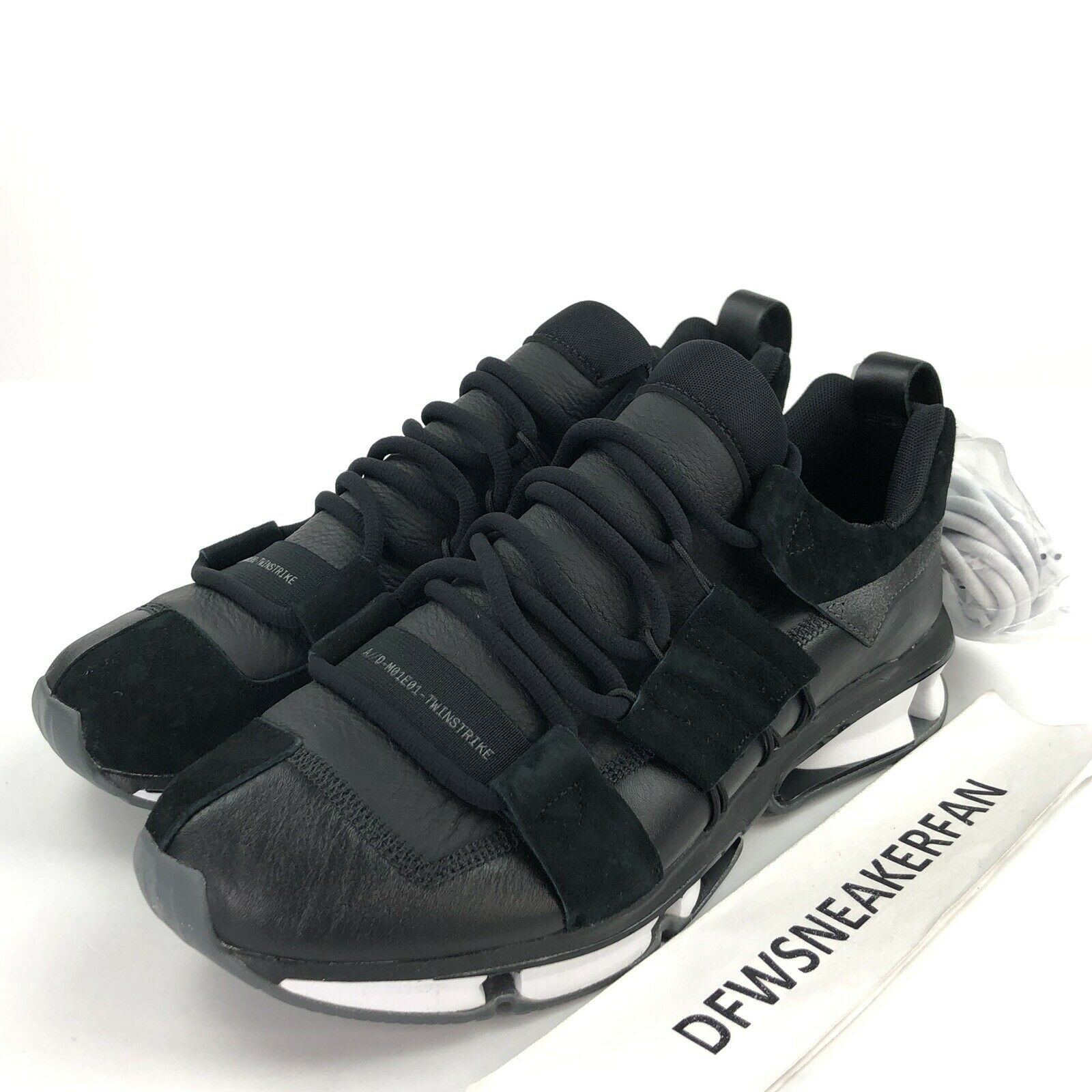 Adidas Twinstrike Men's 11.5 ADV Stretch Leather Sneakers Black B28015 New shoes