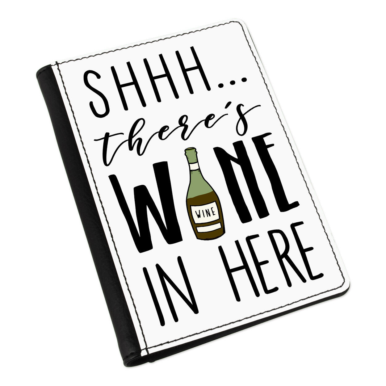 Shhh there's Wine Wine there's dans Here Red Passport Holder Cover Case Wallet-Funny 66dd53