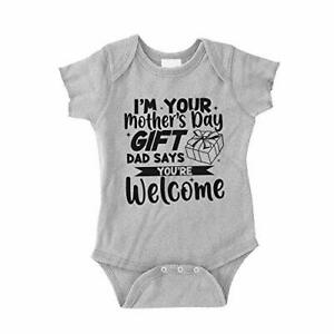 Happy Fathers Day Daddy Mum Says You/'re Welcome Girls Baby Vest Grow Bodysuit 1