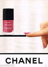 PUBLICITE ADVERTISING 055 1983  CHANEL   vernis à ongles cosmétiques