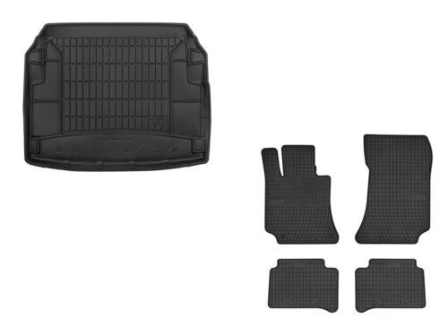 Set Gummimatten Fußmatten + Kofferraumwanne für Mercedes E-Klasse W212 2009-2013