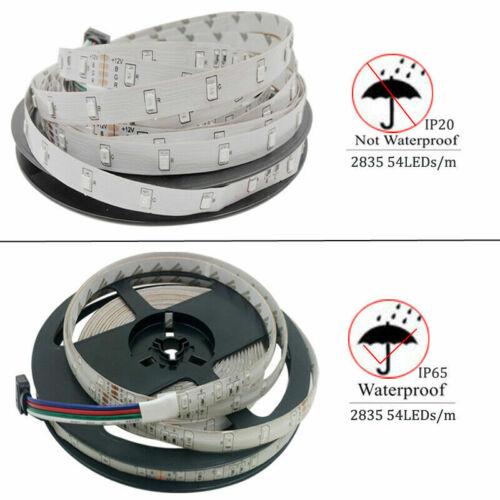 RGB 5050 SMD 2835 LED Strip Light Flexible Ribbon RGB Stripe 5M 10M 15M tape kit