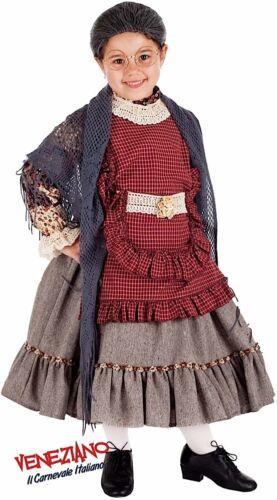 Italian Made Girls Old Lady Grandma Halloween Fancy Dress Costume Outfit 0-10yrs
