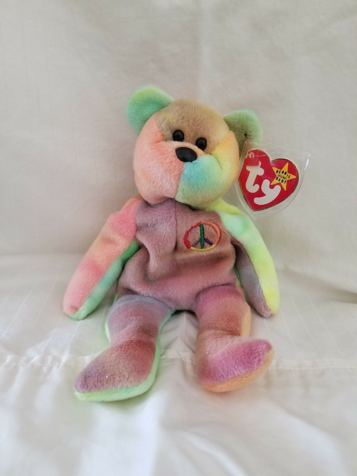 Very rare Peace beanie baby with tag errors