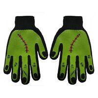 Gothic Horror Monster Zombie Horror Frankenstein Black Green Mens Work Gloves