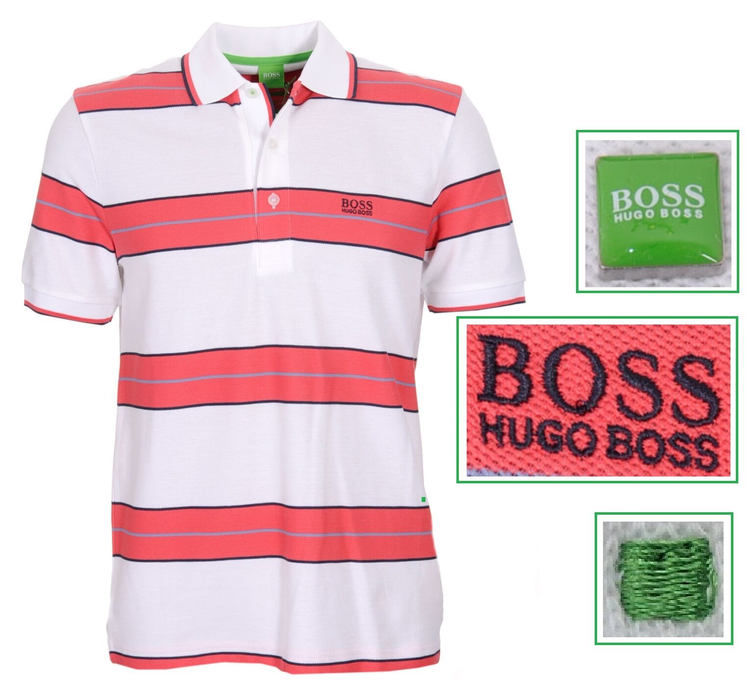 NWT Hugo Boss Green Label by Hugo Boss Fancy & Stylish Cotton-piqué polo shirt M