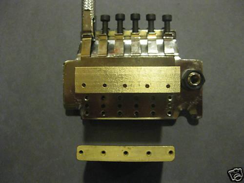 Peavey Wolfgang bridge big brass sustain block Floyd Rose tremolo upgrade