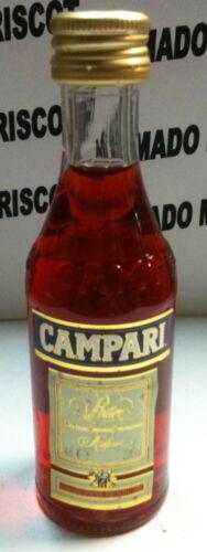 BITTER CAMPARI 4cl 25/% ITALY  cristal miniatura mignonette mini bottle NEW nueva