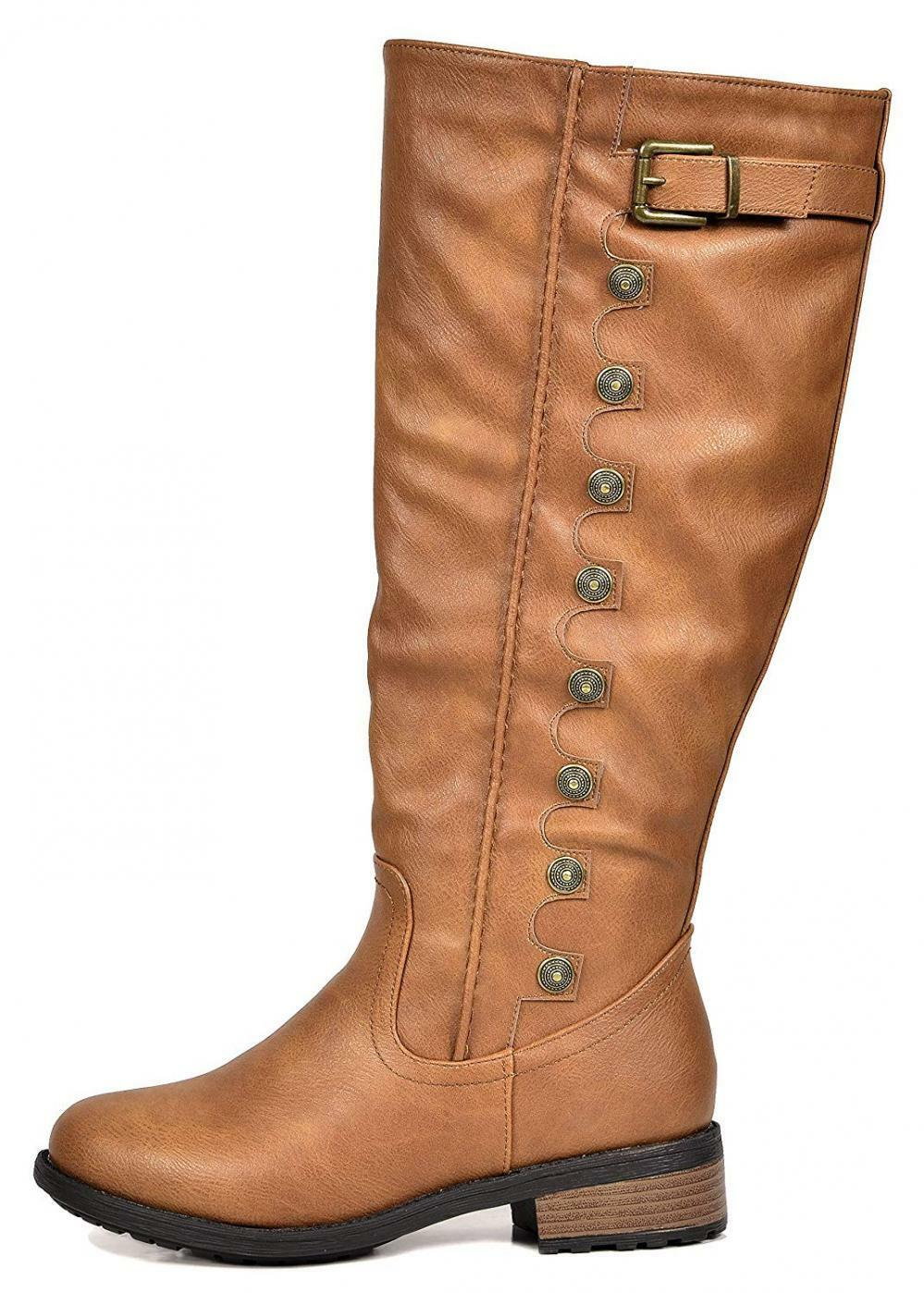 DREAM PAIRS Women's Army Camel Camel Camel Pu Leather Knee High Winter Riding Boots Size... 6dc870