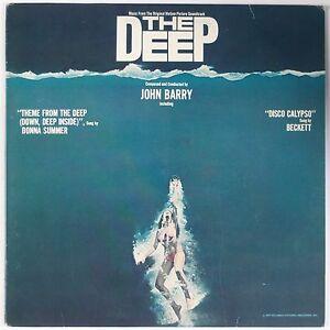 The Deep Soundtrack Ost Lp Blue Wax John Barry W Poster
