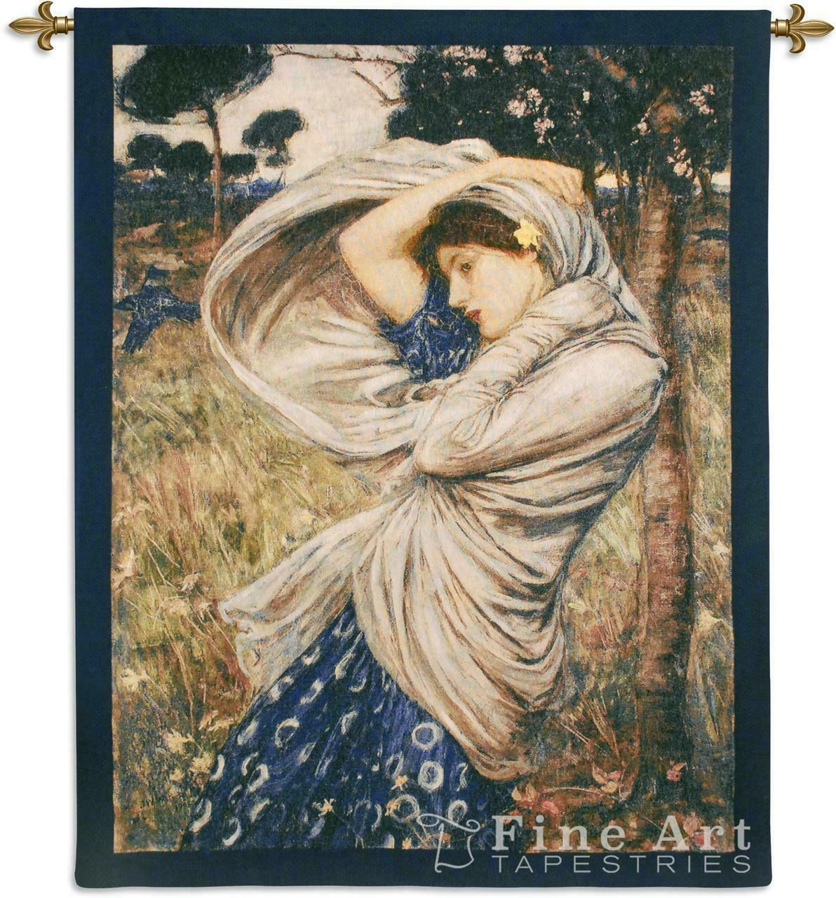 Boreas Romantic Wall Tapestry Watehouse Painting Girl Art Reproduction 40 x53