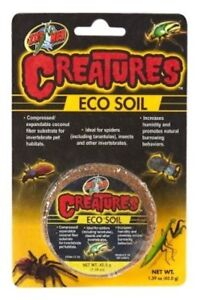 Zoo-Med-Eco-Creatures-Small-Soil-Disc-Compressed-Coconut-Bugs-roach-Invertebrate