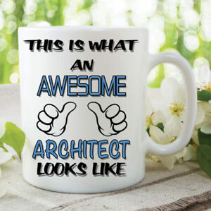 Novelty Mug Awesome Architect Coffee Funny Gift Birthday Work Tea