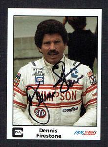 Dennis Firestone #46 Autographe Signé Auto 1985 A&S de Course Ppg Indy LtDScSr8-07165013-130960453