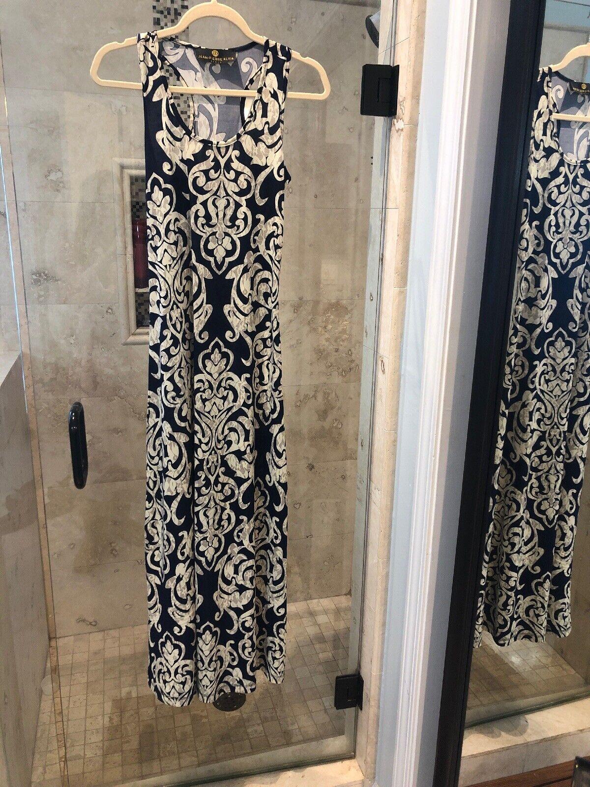 Stunning Jean-Pierre Klifa Blau dress  M (US Größe 8-10) Maxi