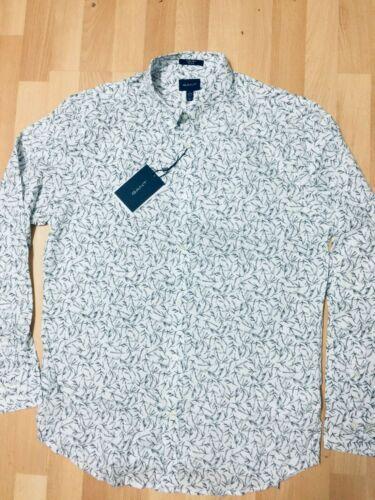 GANT Mens CASUAL FLORAL Shirt Long Sleeve MULTICOLOURED L-XXL RRP£130