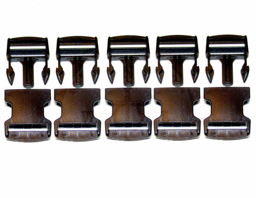 """5 Pc for 1½/"""" Inch Webbing Set Quick Release Buckle Acetal Plastic"""