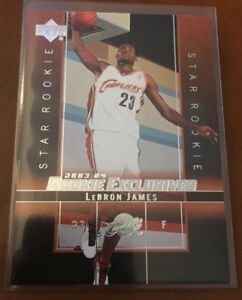 Lebron James Rc Cavaliers 2003 04 Upper Deck Rookie Exclusives Ebay