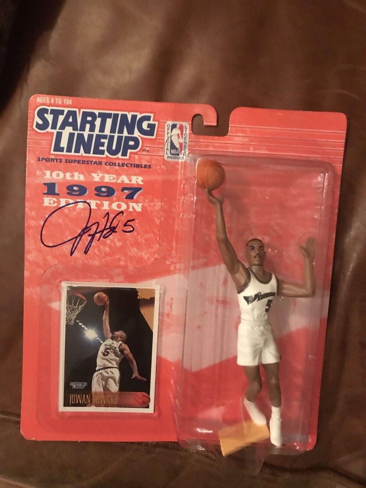 1996 JUWAN HOWARD  estrellating Lineup  Sports Figurine - Washington Bullets Signed  punti vendita