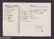REGISTRO DE ESCLAVOS / SLAVERY DOCUMENT MULATO / ARECIBO PUERTO RICO / 1868 / #2