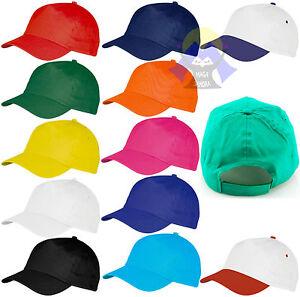 Cappellino-VISIERA-Precurvata-NEUTRO-Berretto-CAPPELLO-Regolabile-BASEBALL-Hat