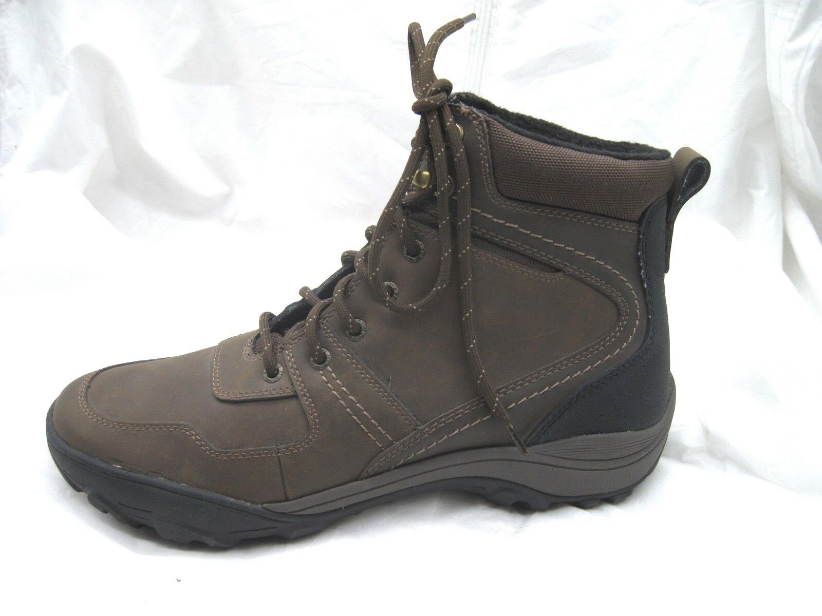 Mens Bass Dark Brown Glacier Lace Up Ankle Hiking boots shoes sz 10.5 101 2