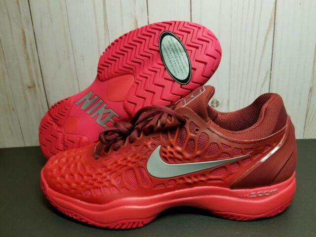 d13398fdd4d6 Nike Air Zoom Cage 3 Mens Tennis Shoes 8.5 Team Red Metallic Silver ...