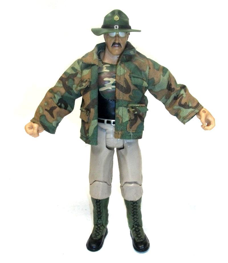 WWE WWF TNA Wrestling SGT SLAUGHTER 6  figure VERY RARE