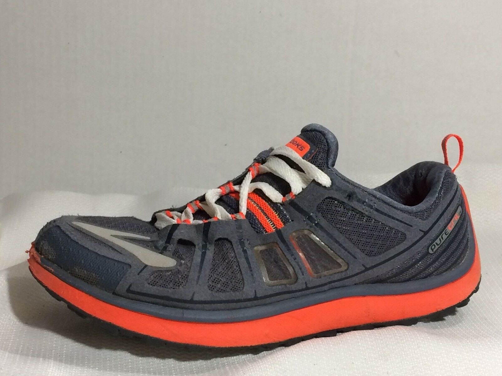 Brooks Brooks Brooks Pure Grit 2 Damenschuhe 8 Med Trail Running Schuhes 1201331B674 Gray Neon Orange f3c6e5